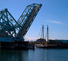 Draw Bridge and Tall Ship by Derek Lowe