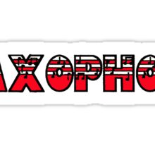 Saxophone Red I Sticker