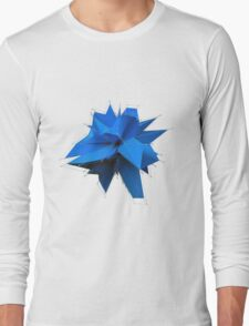 Blue Polygon Long Sleeve T-Shirt