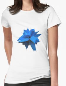 Blue Polygon Womens Fitted T-Shirt