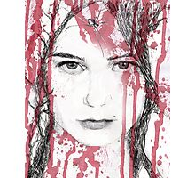 Your blood on my face Photographic Print