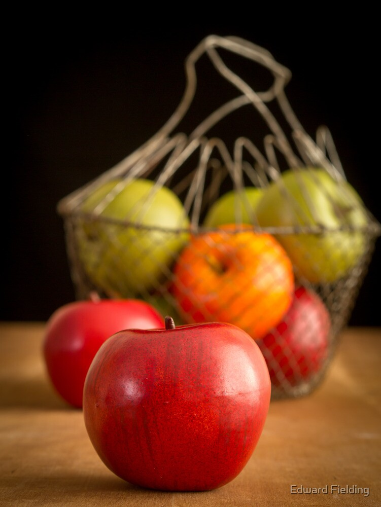 Apple Basket Still Life by Edward Fielding