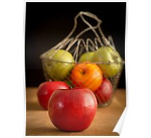 Apple Basket Still Life Poster