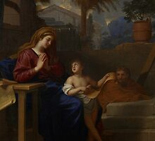 The Holy Family in Egypt, c.1660 by Bridgeman Art Library