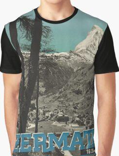 Vintage poster - Zermatt Graphic T-Shirt