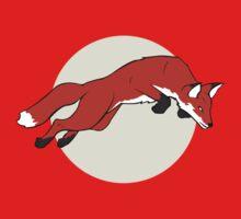 Night Fox Flies over the Moon Baby Tee