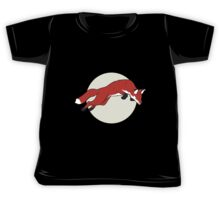 Night Fox Flies over the Moon Kids Tee