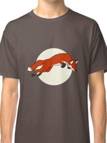 Night Fox Flies over the Moon Classic T-Shirt
