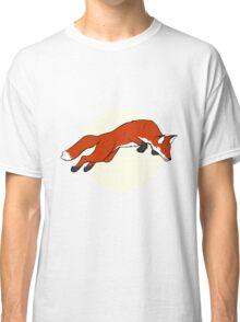 Night Fox Flies over the Moon Classic T-Shirt