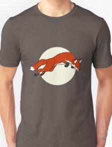 Night Fox Flies over the Moon Unisex T-Shirt