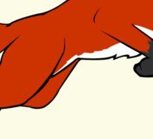 Night Fox Flies over the Moon Sticker