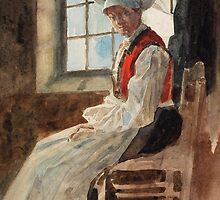 Scandinavian Peasant Woman in an Interior, c.1906 by Bridgeman Art Library