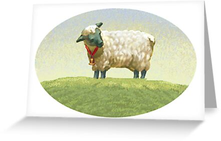 Sheep (watercolor) by Alexander Savchenko