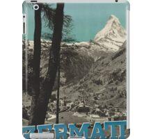 Vintage poster - Zermatt iPad Case/Skin