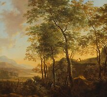 Wooded Hillside with a Vista, c.1645 by Bridgeman Art Library