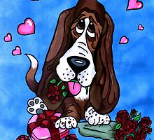 Basset in love by pateabag