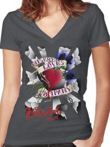 Misery Loves Co. Women's Fitted V-Neck T-Shirt