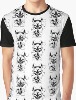 Lucky Trooper Cat Graphic T-Shirt