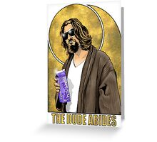 The Dude Big Lebowski Poster Greeting Card