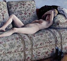 Nude on a Couch, c.1880 by Bridgeman Art Library