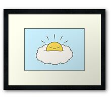 Sunshine for breakfast / Egg cloud Framed Print