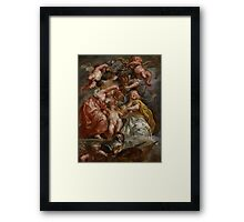 The Union of England and Scotland (Charles I as the Prince of Wales), c.1633-34 Framed Print