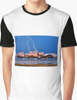 Lightning over fighter Jets Graphic T-Shirt