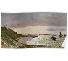 The Seashore at Sainte-Adresse, 1864 Poster
