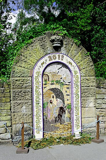 Main Well Dressing, Rowsley 2011 by Rod Johnson