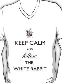 Keep Calm and follow the White Rabbit  T-Shirt