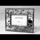 Vintage Metal Picture Frame With A Message by © Sophie W. Smith