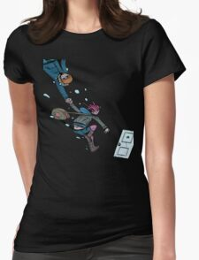 Scott Pilgrim Sub-Space Highway Womens Fitted T-Shirt