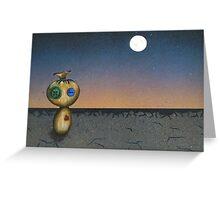 Cold, Dark wasteland of Eternity Greeting Card