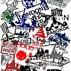 Travel Destination Passport Stamps by pda1986