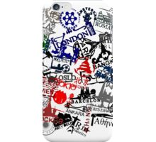 Travel Destination Passport Stamps iPhone Case/Skin