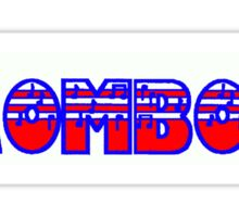 Trombone Red White & Blue I Sticker