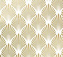 art deco gold pattern by dairinne