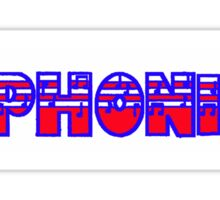 Euphonium Red White & Blue I Sticker
