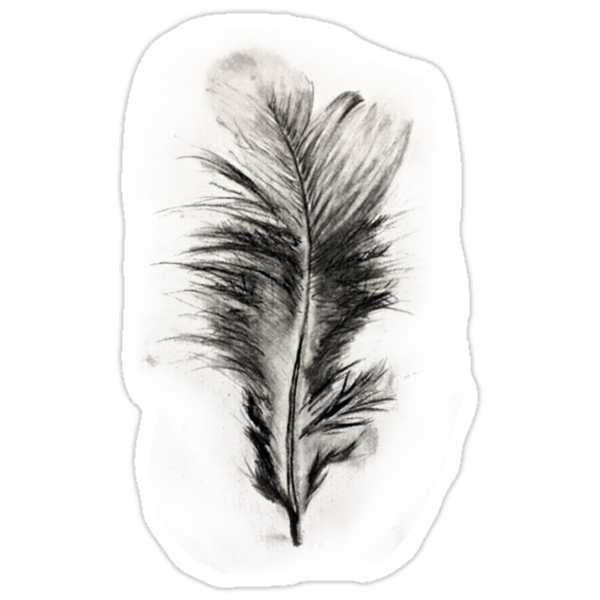 Feather in Charcoal by Jacqui Frank