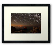 Headland trails Framed Print