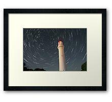 Lighthouse trails Framed Print