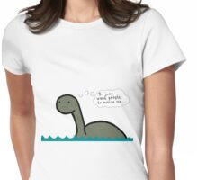 Socially Awkward Loche Ness Monster Womens Fitted T-Shirt