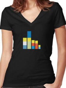 Simpsons on the Block Women's Fitted V-Neck T-Shirt