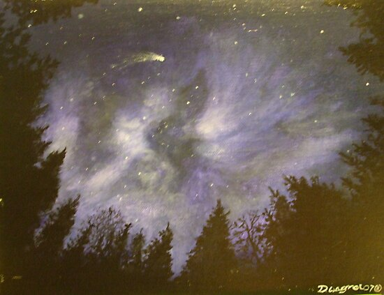 Night in the forrest by Dan Wagner