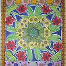 Mandala of Summer Flowers by Susan Genge