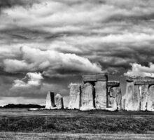 Stonehenge B&W Sticker