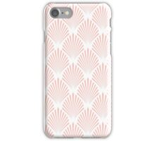 Pale pink art deco pattern iPhone Case/Skin