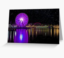 The Seattle Great Wheel on Valentine's Day, 2013 Greeting Card