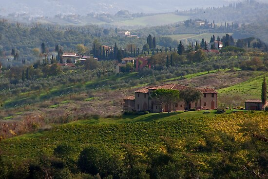 Rolling Tuscany by phil decocco