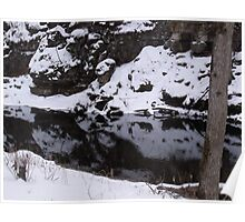 Whitewater Creek in January Poster